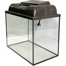 Аквариум прямоугольный с крышкой венге 30 л