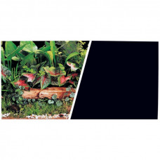 Фон Зеленые растения/Черный, 49 см, 1 м