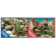 Фон двухсторонний с одной самоклеящейся стороной Каменная терасса/Каменный рельеф 30x60см 9023/9025