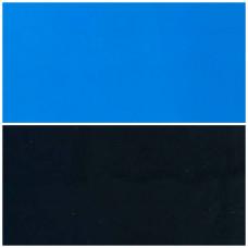 Фон двухсторонний голубой/чёрный 005, м