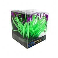 Флуоресцентная аквариумная декорация GLOXY Морской анемон зеленый, 9,5х8,5х9см