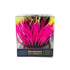 Флуоресцентная аквариумная декорация GLOXY Морской анемон розовый, 9,5х8,5х9см