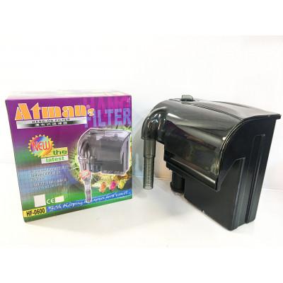 Фильтр рюкзачный Atman HF-0600 для аквариумов до 100 л, 660 л/ч, 6W с поверхностным скиммером