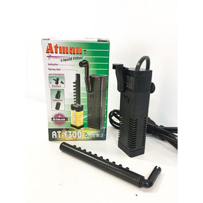 Фильтр внутренний Atman AT-F300 для аквариумов до 30 литров, 150 л/ч, 2W