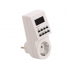 Электронный таймер TGE-2 с розеткой и LCD дисплеем