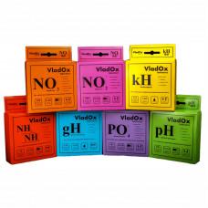 VladOx профессиональный набор №1 из 7-ми тестов (gH, kH, pH, NO2, NO3, NH3/4, PO4)