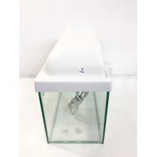 Аквариум прямоугольный с белой крышкой 7 л